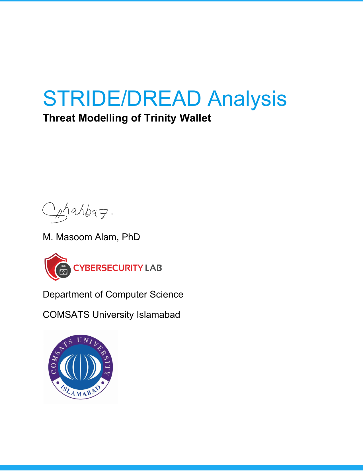 First page of the 'Threat Modeling Trinity Wallet' PDF