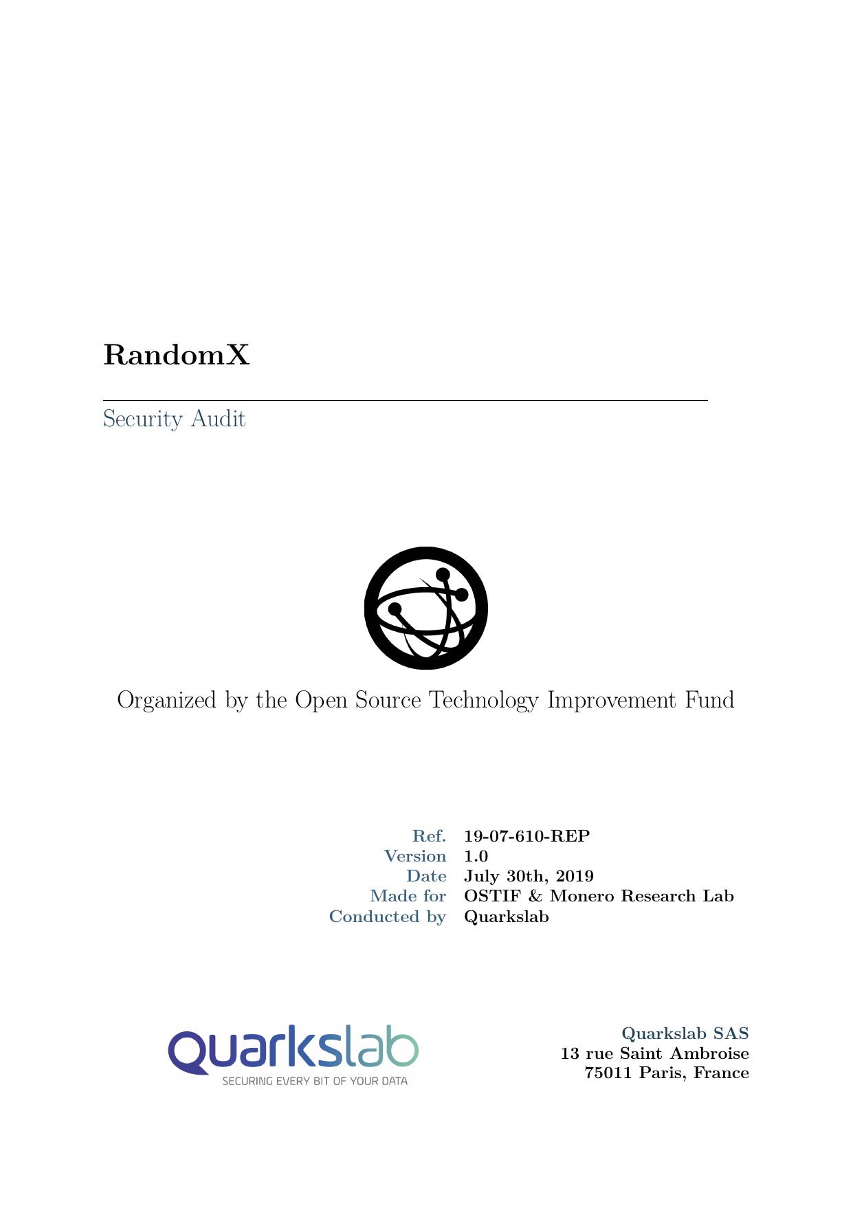 First page of the 'Report-Quarkslab1' PDF