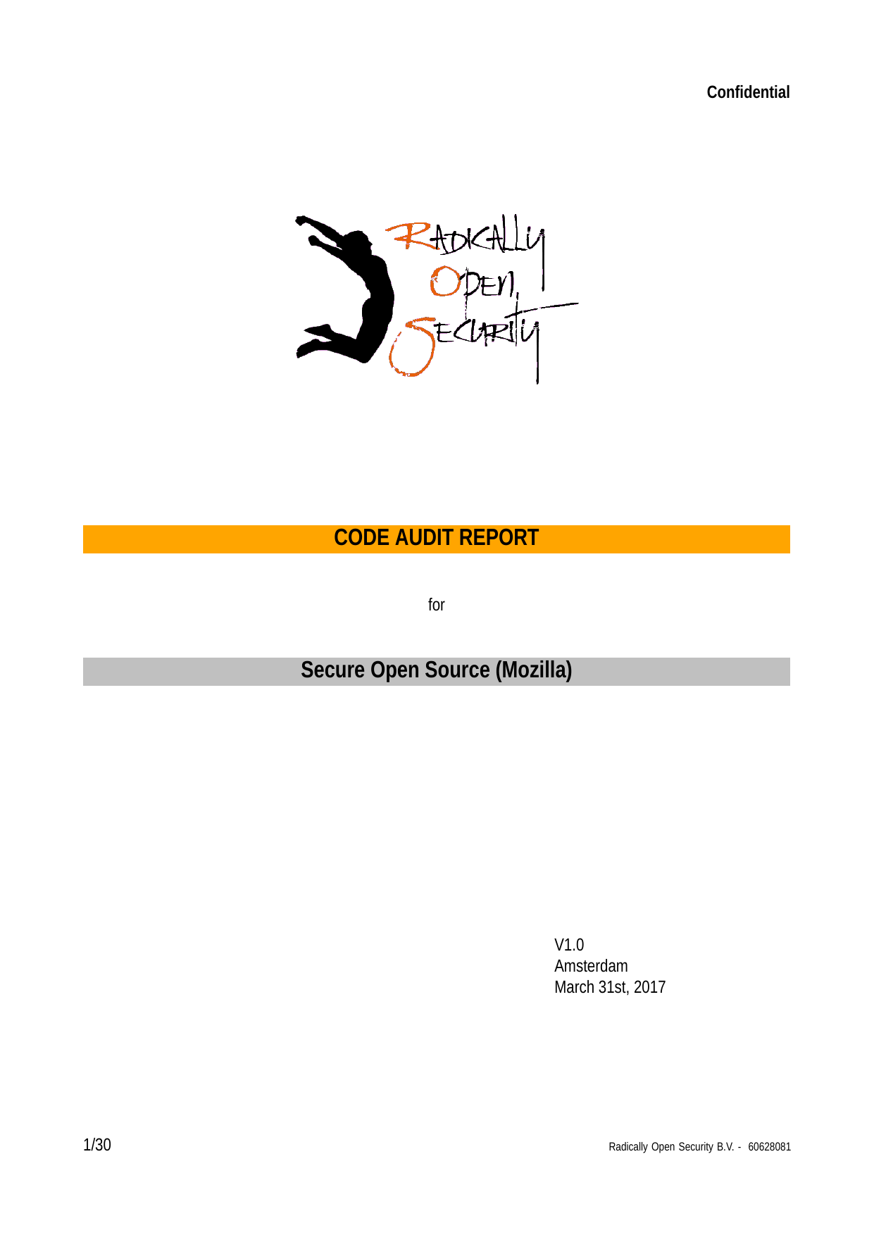 First page of the 'Libexpat-report' PDF