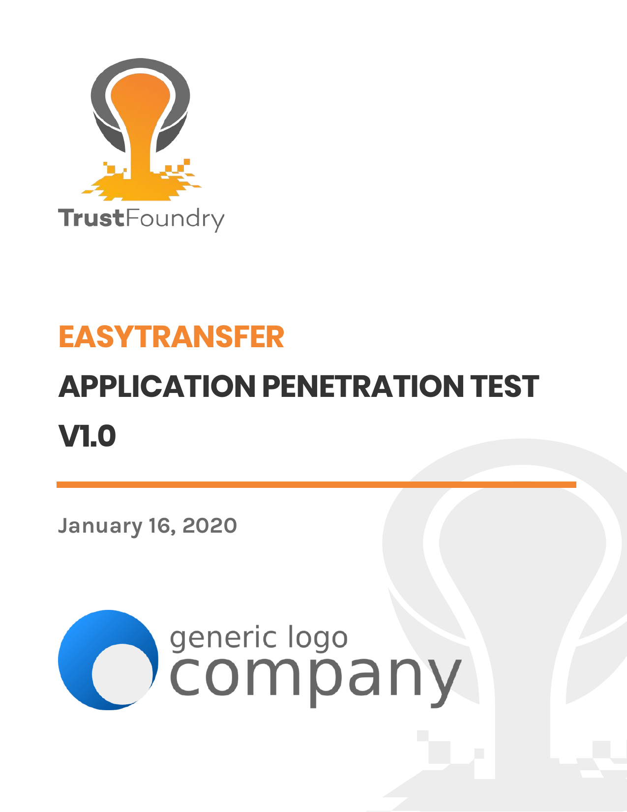 First page of the 'TrustFoundry - Sample - Application Penetration Test - v1.0' PDF